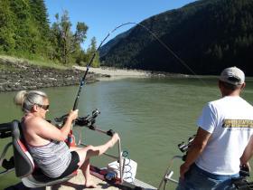 josee-battling-sturgeon-fishing
